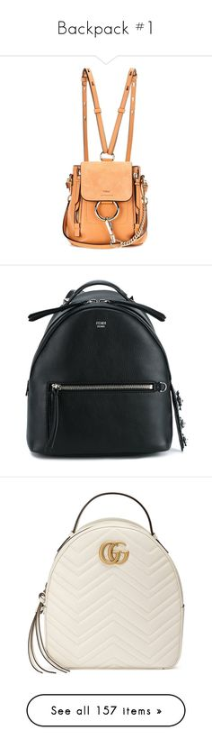 """""""Backpack #1"""" by asoc10 ❤ liked on Polyvore featuring bags, backpacks, brown, white backpack, brown leather backpack, genuine leather backpack, miniature backpack, leather knapsack, accessories and handbags"""