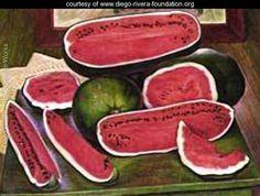 The Watermelons 1957 - Diego Rivera - www.diego-rivera-foundation.org