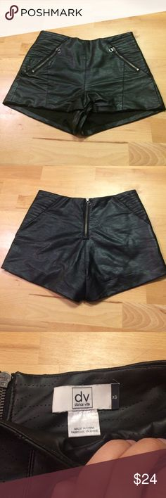 Dolce Vita Faux Leather Shorts High rise shorts. Great for casual wear with converse or going out to the bars in heels! Dolce Vita Shorts