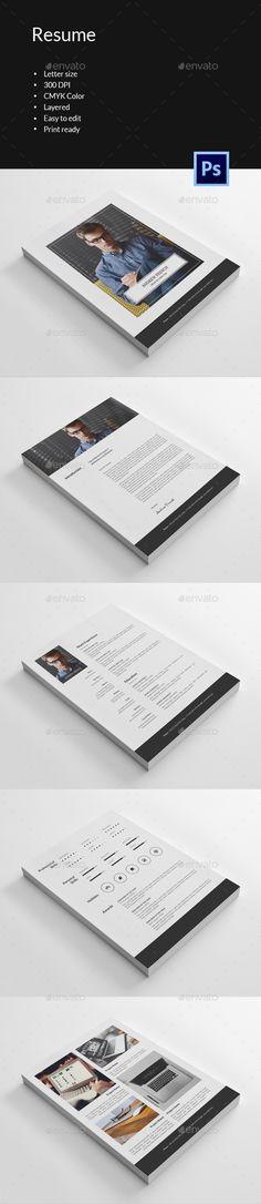 Resume Template PSD. Download here: http://graphicriver.net/item/resume-templatev16/16828138?ref=ksioks