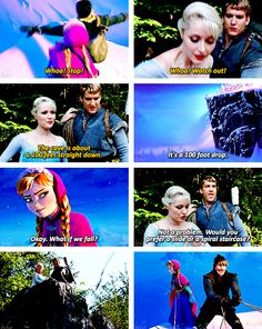 Some things are just coincidences and some are on purpose<<Or: how Kristoff realized the journey is so much easier with the other sister (though I bet not as much fun!).