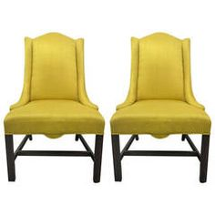 Pair of Hollywood Regency Style Side Chairs
