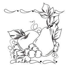 Riscos de frutas para pintar
