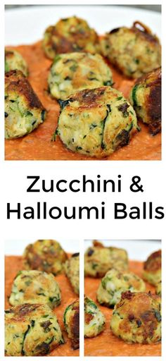 Zucchini & Halloumi Balls A trending combination of delicious herbs and cheese. Halloumi is a Cypriot (Greek) firm, brined, slightly springy white cheese, traditionally made from a mixture of goat and sheep milk Vegetable Dishes, Vegetable Recipes, Vegetarian Recipes, Cooking Recipes, Healthy Recipes, Cooking Tips, Keto Recipes, Savory Snacks, Healthy Snacks