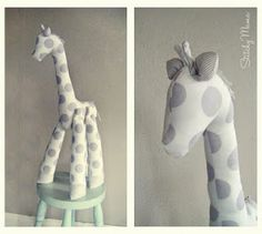 Free Pattern for this Giraffe toy from Stitchy Mama.  Cuteness.