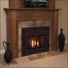 The DVB series of <b>fireplaces</b> offers a classic <b>fireplace</b> <b>design</b> in a ...