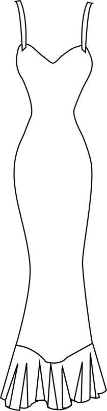Une robe longue à bretelles