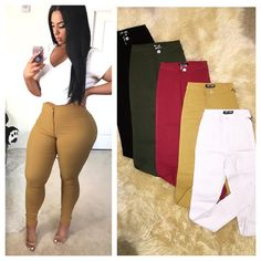Thick Girls Outfits, Cute Casual Outfits, Sexy Outfits, Stylish Outfits, Girl Outfits, Fashion Outfits, Thick Girl Fashion, Black Women Fashion, Super Skinny Jean