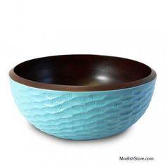 Enrico Mango Wood Honeycomb Set/5 - Sky Blue – Modish Store