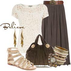 Believe.  I love the skirt!