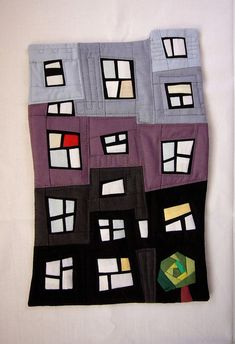 urban landscape quilt by Rumi lafchieva aka 3patch (flickr) http://www.flickr.com/photos/3patch/