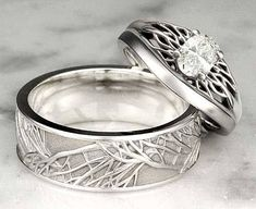 Nature Inspired Wedding Rings