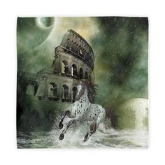 new at @CafePress : The #Escape 1 Cloth #Napkins A #horse flees before the #flood! The #Colosseum in #Rome is flooded and other #planets orbit the earth! An amazing #fantasy scene!  $22.99