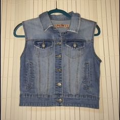 Jean vest Matches anything! It's a wardrobe must Jackets & Coats Vests