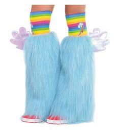 MLP Rainbow Dash Adult Costume Furry Leg Warmers