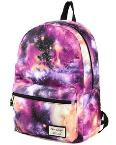 Amazon.com : HotStyle TrendyMax Womens School Boys Girls Galaxy Patterned 600D Polyester Backpack (purple) : Sports & Outdoors
