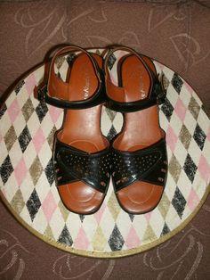 Sale 50 Off Vintage Black Patent Wedge Heel by AtomicAngelVintage, $12.00