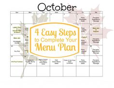 4 Easy Steps to Complete Your Menu Plan
