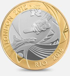 The London 2012 Handover to Rio - 2012. Designed by Jonathan Olliffe.  http://www.royalmint.com/discover/uk-coins/coin-design-and-specifications/two-pound-coin/2012-handover-to-rio
