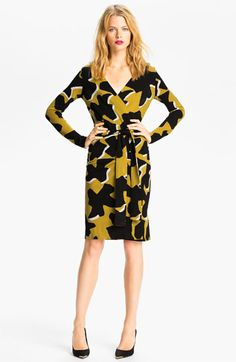 Diane von Furstenberg 'Richley Dove Bloom' Wrap Dress (Online Exclusive)   Nordstrom