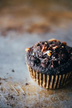 Chocolate banana nut muffins | The  Thoughtful Plate