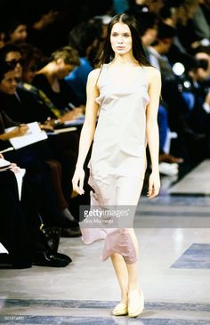 Runway show of Helmut Lang's Spring 1991 RTW collection.
