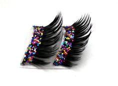 dramatic glitter party eyelashes....my best friend needs these for her everyday life #party #newyears #glamour