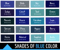 Discover recipes, home ideas, style inspiration and other ideas to try. Rgb Palette, Hex Color Palette, Blue Colour Palette, Blue Color Schemes, Color Palettes, Blue Color Hex, Blue Shades Colors, Blue Color Meaning, Blue Hex Code
