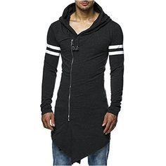 Street Style Extended Hoodie Long Sleeves