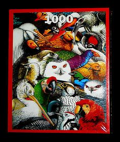 Endangered Birds 1000 pc Animal Awareness Puzzle Art by Helene Burrows, England
