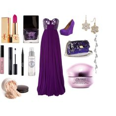 purple, created by #drue-young on #polyvore. #fashion #style Roberto Cavalli Steve Madden