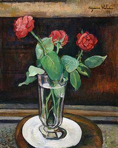 Vase de roses rouges (1936) - Suzanne Valadon