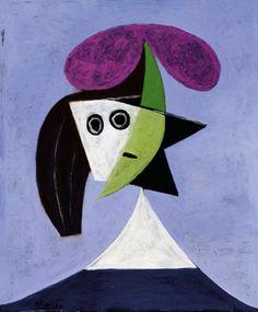 Picasso (1881-1973, Spain) | Volto di Donna (Paris, Centre Pompidou)