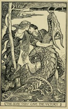 The Crimson Fairy Book by Andrew Lang  Illustrations by H. J. Ford    The Kiss that gave the victory