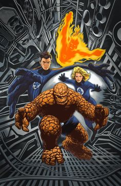 The Fantastic Four [Captain America Vol. 9 (Return of the Fantastic Four Variant) (August Cover artist by: Travis Charest Comic Book Covers, Comic Book Heroes, Marvel Heroes, Comic Books Art, Book Art, Fantastic Four, Mister Fantastic, Stan Lee, Gi Joe