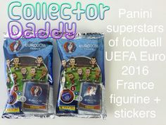 Panini superstars of football UEFA Euro 2016 France figurine and stickers 2 X packets opened https://youtu.be/aP0htB76nQA