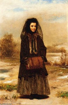 The Fur Muff, Oil On Canvas by John George Brown (1831-1913, England)