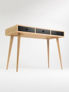 Small Modern Desk Bureau Dressing Table Oak Wood Mid Century Modern Customized Size And Finish Modern Small Desk Modern Desk Dressing Table Oak