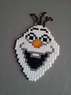 Olaf Frozen - Original perler bead sprite by Retr8bit on deviantART