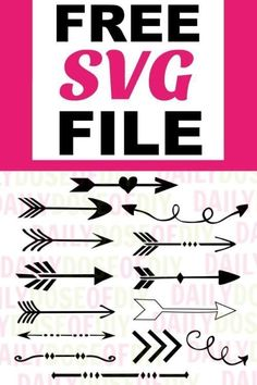 Free Arrow SVG Files -Set of 14 grab this free svg files for cricut or silhouette cutting machines. The SVG file includes 12 arrows and two tribal dividers Cricut Svg Files Free, Cricut Fonts, Free Svg Cut Files, Image Svg, Arrow Svg, Cricut Tutorials, Cricut Ideas, Stencils, Monogram