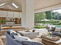 At Home With Chrissie Rucker, Founder of the White Company - Luxury Pool House Photos The White Company, Alice Coltrane, Elle Decor, Pool House Designs, Madeira Natural, Luxury Swimming Pools, Outdoor Furniture Sets, Outdoor Decor, Outdoor Living