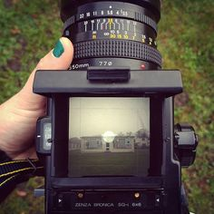 Great to be out and about near my studio today with my Bronica camera. Testing some film for an idea. A few teething problems with my winding crank but it's so good to hear that shutter CLUNK. Most satisfying noise ever. #bronicasqai #shutter #120film #filmisnotdead