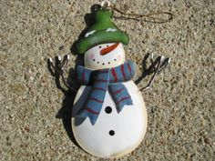 "OR514 - Blue Scarf Snowman   2 1/2"" x 4 1/2""H     $ 1.50"