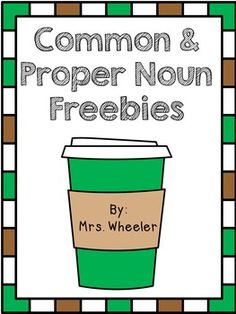 Common and Proper Noun Freebie