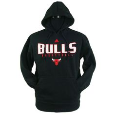 Chicago Bulls Black Pullover Hoodie Sweatshirt by Adidas | Sports World Chicago $49.95