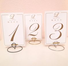 Wedding round shaped table number holders- Your choice of color (silver, gold, black) - SAMPLE LISTING Wire Table, Gold Table, Wedding List, Wedding Signs, Wedding Ideas, Wedding Reception, Wedding Stuff, Wedding Inspiration, Wedding Tables