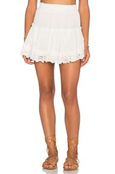 0a6a0cdce1 MISA Los Angeles Clemence Skirt in White Lace Shorts, Denim Skirt, Revolve  Clothing,