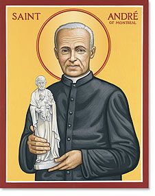 St. Brother André Bessette, a humble man who dedicated his life doing the smallest of jobs. He saved money from haircuts to build a church. He trusted St. Joseph with his prayers to Jesus- the result is hundreds of healings. There is a cathedral in Montreal housing the crutches of those healed. My cousin is one who now walks thanks to St. Brother André and St. Joseph's intercession before JESUS.