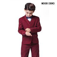 33.26$  Buy now - https://alitems.com/g/1e8d114494b01f4c715516525dc3e8/?i=5&ulp=https%3A%2F%2Fwww.aliexpress.com%2Fitem%2F2017-Gentleman-Style-Boy-s-Formal-Suits-Spring-Coat-Shirt-Vest-Pants-Bow-5Pcs-Set-Children%2F32782421155.html - 2017 Gentleman Style Boy's Tuxedo Suits Spring Coat + Shirt + Vest + Pants+Bow 5Pcs/Set Children Boy Wedding Party Clothing Sets