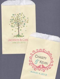 Wedding Candy Bar Candy Buffet Favor Bags Cookie by wreathartist, $65.00